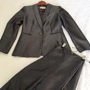 NWOT Calvin Klein Grey Lined Pant Suit